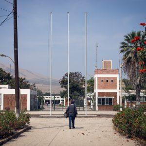 Flags are gone. INIA, Huaral, 2017. / Les drapeaux ont disparu. INIA, Huaral, 2017.