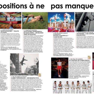 """""""Agenda of current exhibitions"""", Phototech n°34, October/November 2014"""