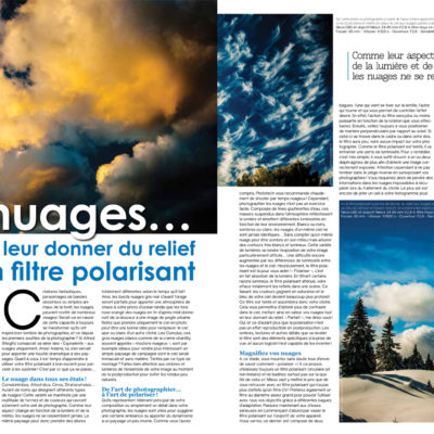 """How to photograph clouds"", Phototech n°32, June/July 2014"
